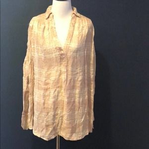 Free People Top Tunic V Neck Collared